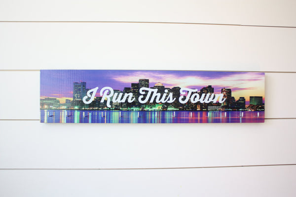 Medal Holder - I Run This Town - Large (Full Color) City / Skyline - York Sign Shop - 2