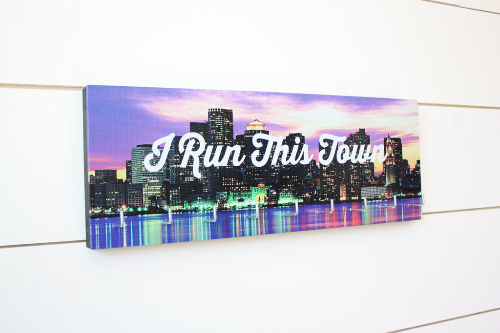 Medal Holder - I Run This Town - Medium (Full Color) City / Skyline - York Sign Shop - 1