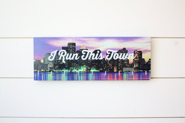 Medal Holder - I Run This Town - Medium (Full Color) City / Skyline - York Sign Shop - 2