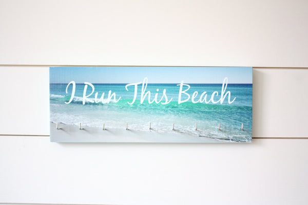 Medal Holder - I Run This Beach - Medium - York Sign Shop - 2