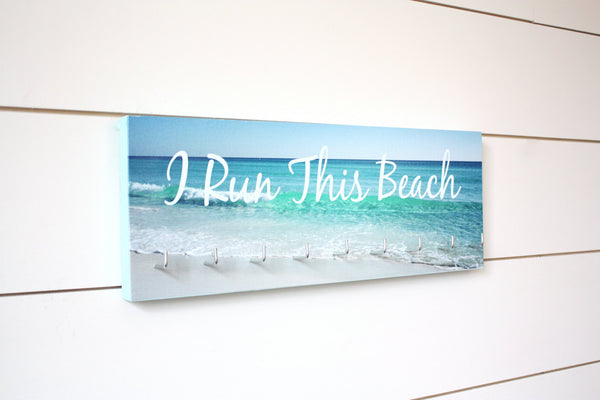 Medal Holder - I Run This Beach - Medium - York Sign Shop - 1