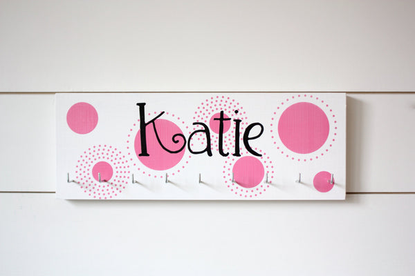 Personalized Medal Holder with Polka Dots - Medium - York Sign Shop - 2