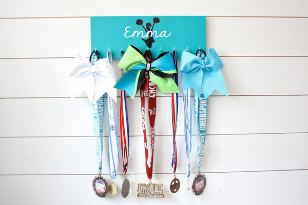 Cheerleading Medal Holder / Display - Personalized - Medium - York Sign Shop - 3