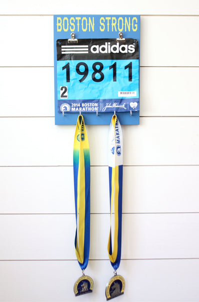 Boston Marathon Race Bib & Medal Holder - Boston Strong - York Sign Shop - 2
