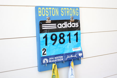 Boston Marathon Race Bib & Medal Holder - Boston Strong - York Sign Shop - 1