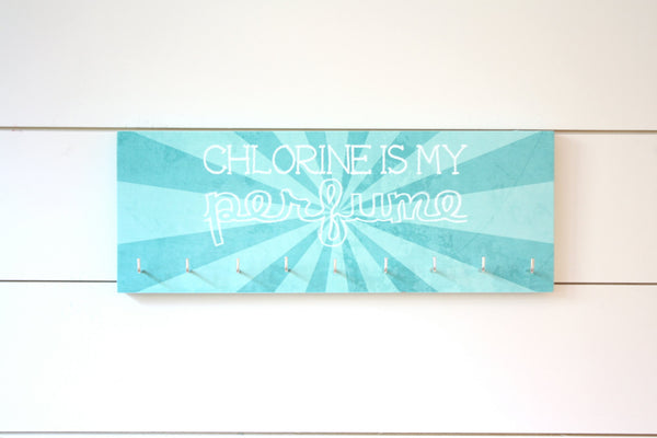 Swim Medal Holder - Chlorine is my perfume - Medium - York Sign Shop - 1