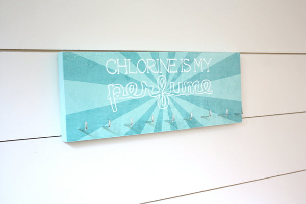 Swim Medal Holder - Chlorine is my perfume - Medium - York Sign Shop - 2