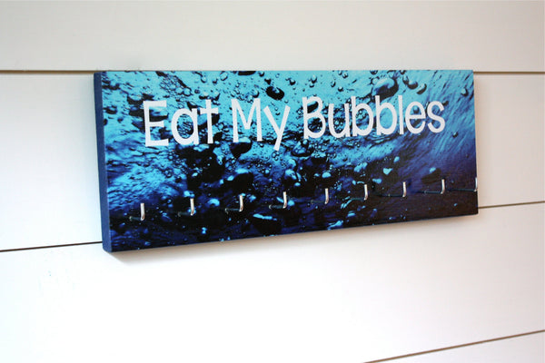 Swim Medal Holder - Eat My Bubbles - Medium - York Sign Shop - 1