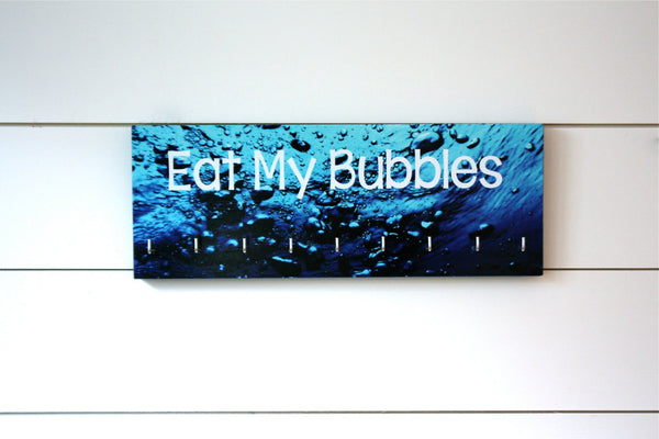Swim Medal Holder - Eat My Bubbles - Medium - York Sign Shop - 2