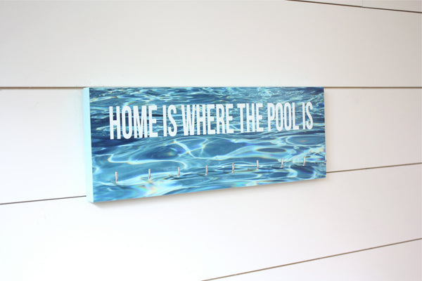 Swimming Medal Holder - Home is where the pool is - Medium - York Sign Shop - 1