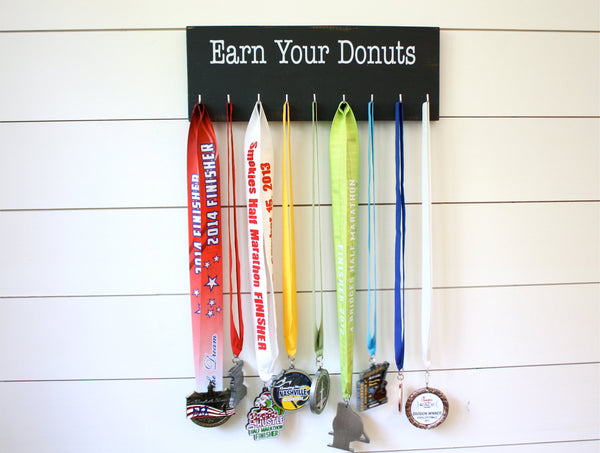Medal Holder - Earn Your Donuts - Medium - York Sign Shop - 3