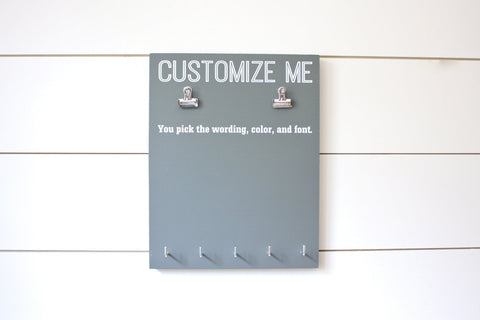 Customizable Bib and Medal Display - You design it, we make it! - York Sign Shop - 1