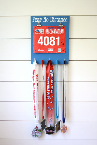 Race Bib and Medal Display -  Fear No Distance - York Sign Shop - 2