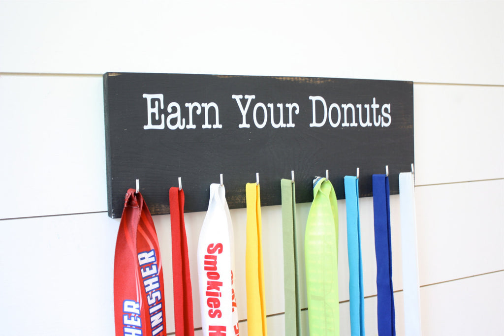 Medal Holder - Earn Your Donuts - Medium - York Sign Shop - 1