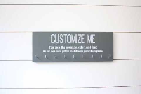 Customizable Medium Medal Holder  - You design it, we make it! - York Sign Shop - 1