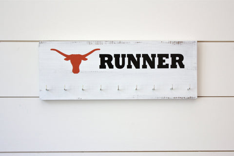 Longhorn Medal Holder - Texas - Medium - York Sign Shop - 1
