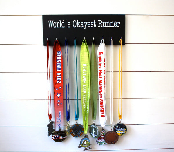 Running Medal Holder - World's Okayest Runner - Medium - York Sign Shop - 2