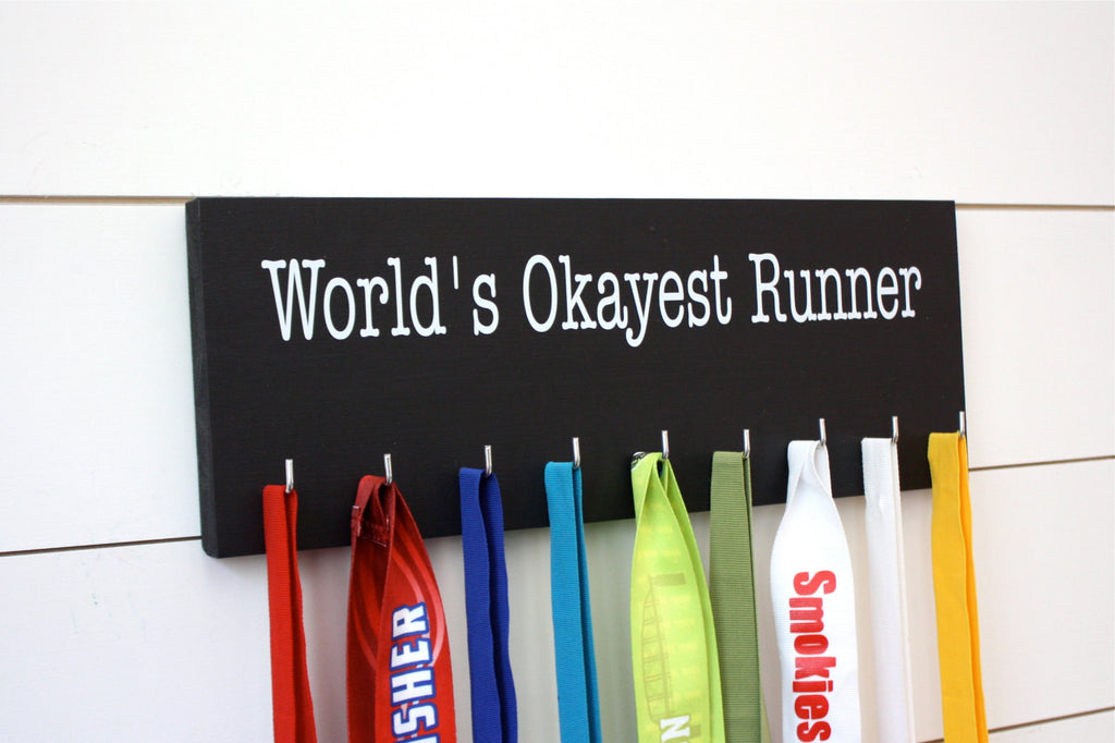 Running Medal Holder - World's Okayest Runner - Medium - York Sign Shop - 1