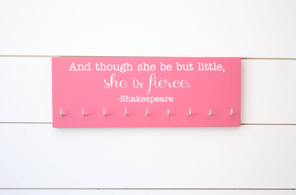 Medal Holder for Girls / Women (Running, Gymnastics, Dance, Cheer) - She is Fierce - Medium - York Sign Shop - 3