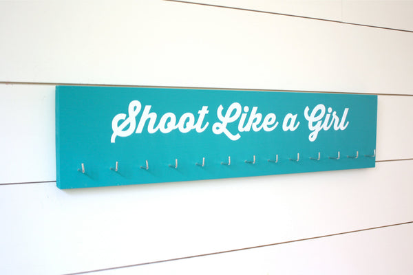 Shooting Medal Holder - Shoot Like a Girl  - Large - York Sign Shop - 2