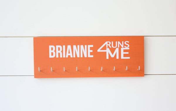 I Run 4 Medal Holder with Logo - Medium - York Sign Shop - 2