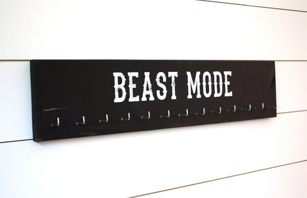 Medal Holder -  Beast Mode - Large - York Sign Shop - 3