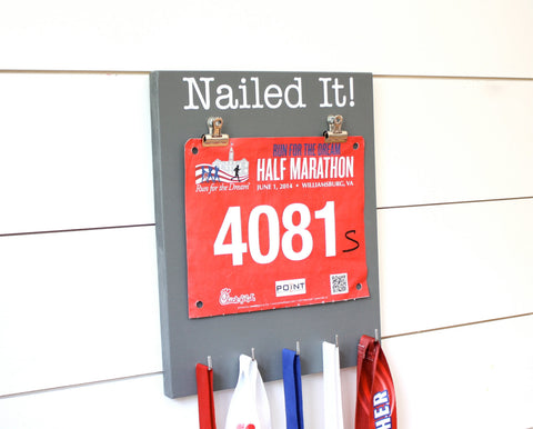 Running Race Bib & Medal Display - Nailed it! - York Sign Shop - 1