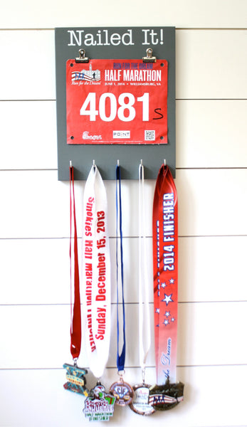 Running Race Bib & Medal Display - Nailed it! - York Sign Shop - 3