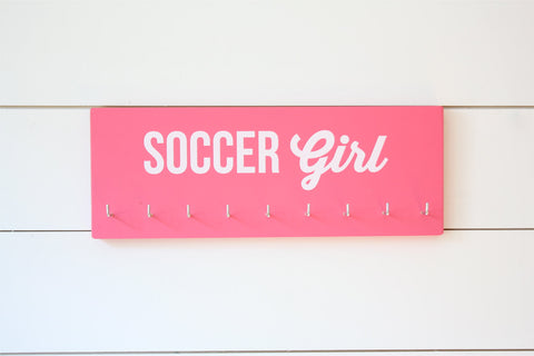 Soccer Girl Medal Holder - Medium - York Sign Shop - 1