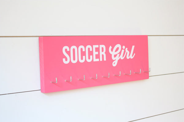 Soccer Girl Medal Holder - Medium - York Sign Shop - 2