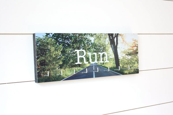 Run Medal Holder - Full Color Photo Road Sun Shining Medium - York Sign Shop - 1