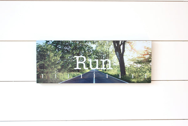 Run Medal Holder - Full Color Photo Road Sun Shining Medium - York Sign Shop - 2