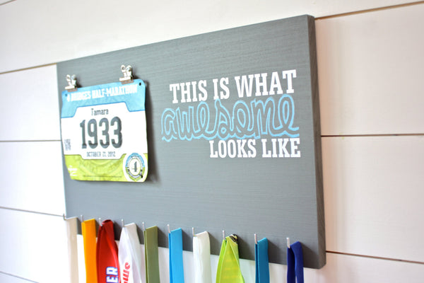 Race Bib & Medal Holder - This is What Awesome Looks Like - York Sign Shop - 3