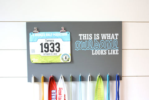 Race Bib & Medal Holder - This is What Awesome Looks Like - York Sign Shop - 1