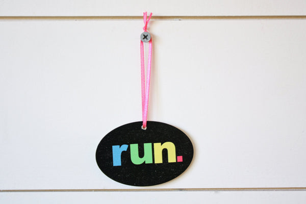 Run. Christmas Ornament  - Colorful and perfect for the holidays!  Makes a great gift for running buddies too! - York Sign Shop - 2