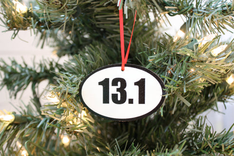 13.1 Running Christmas Ornament - Great gift for half marathon runners! - York Sign Shop - 1