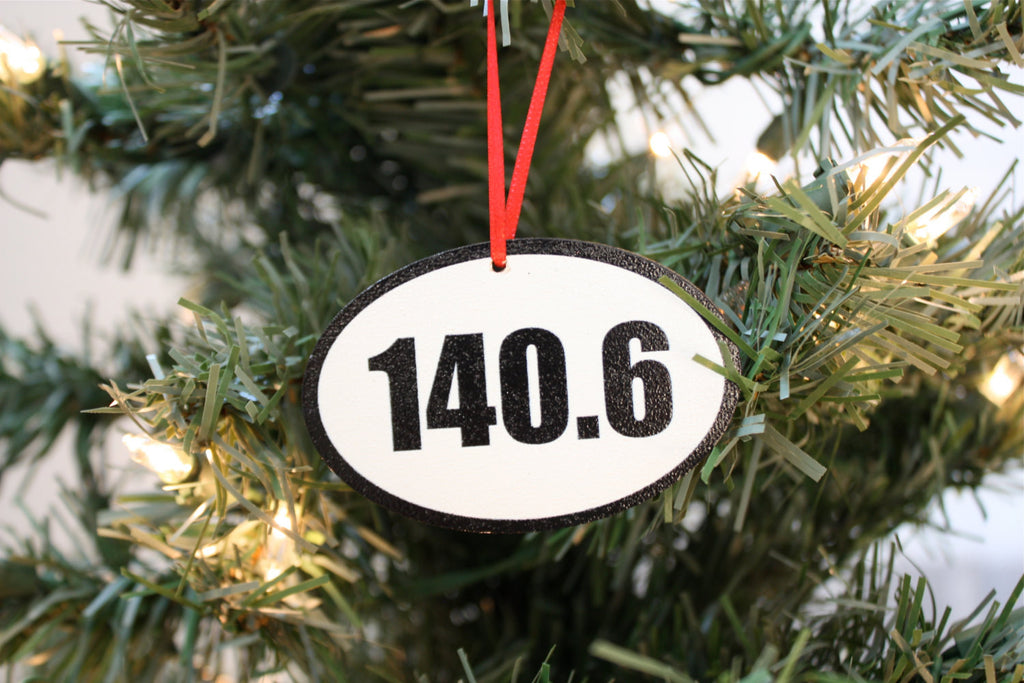 140.6 Triathlon Christmas Ornament - Great gift for Ironman triathletes! - York Sign Shop - 1