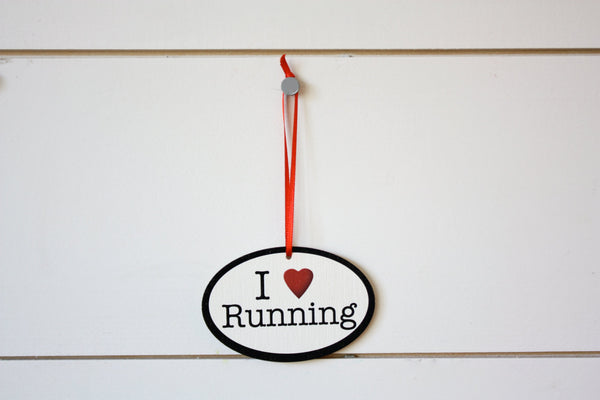 I Love Running Christmas Ornament - Great gift for runners! - York Sign Shop - 2