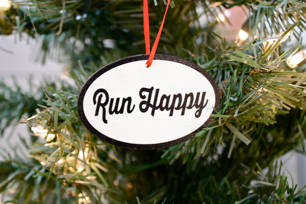 Running Christmas Ornament - Great gift for runners! - York Sign Shop - 1