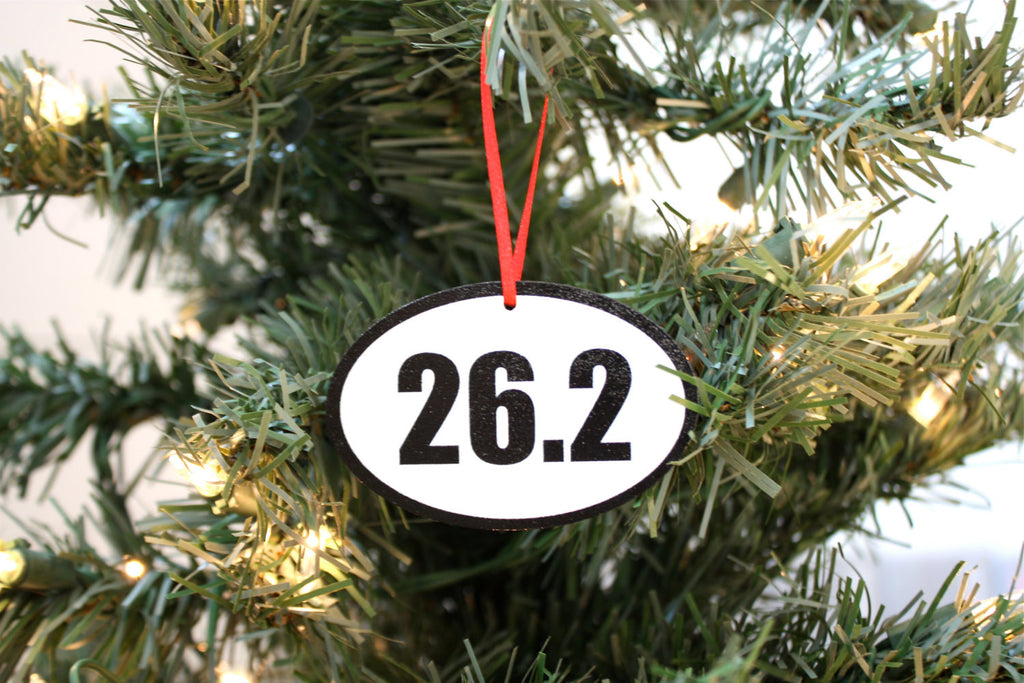 26.2 Running Christmas Ornament - Great gift for marathon runners! - York Sign Shop - 1