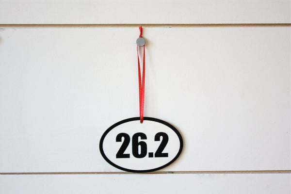 26.2 Running Christmas Ornament - Great gift for marathon runners! - York Sign Shop - 2