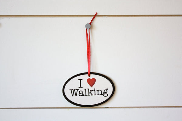 I Love Walking Christmas Ornament - Great gift for walkers! - York Sign Shop - 2