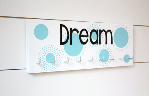 Dream Medal Holder with Polka Dots - Medium - York Sign Shop - 1