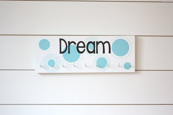 Dream Medal Holder with Polka Dots - Medium - York Sign Shop - 2