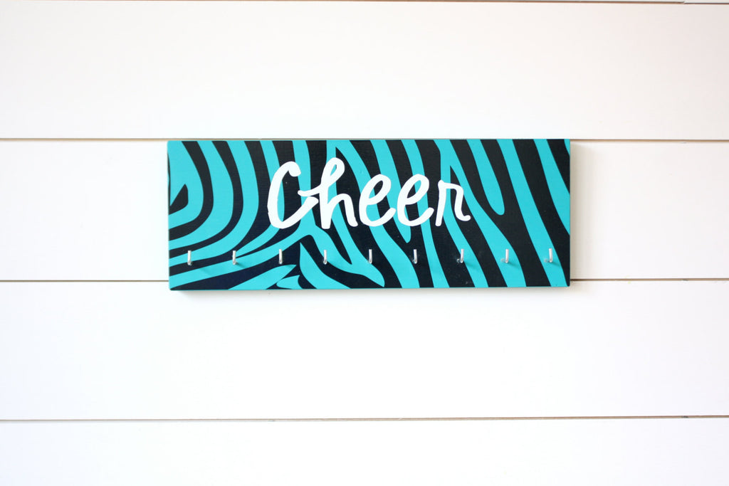 Cheer Medal Holder - Zebra Print - Medium - York Sign Shop - 1