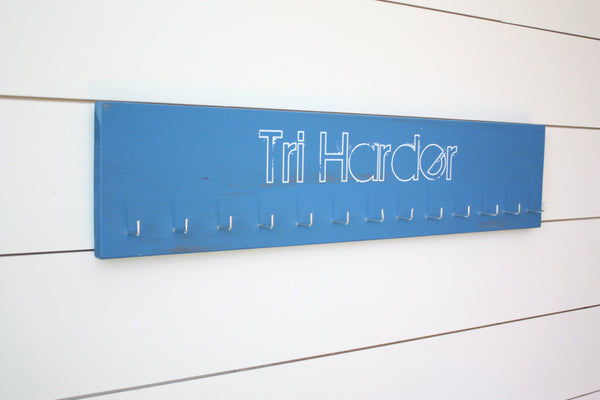 Triathlon Medal Holder - Tri Harder - Large - York Sign Shop - 1