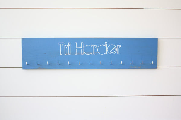 Triathlon Medal Holder - Tri Harder - Large - York Sign Shop - 2