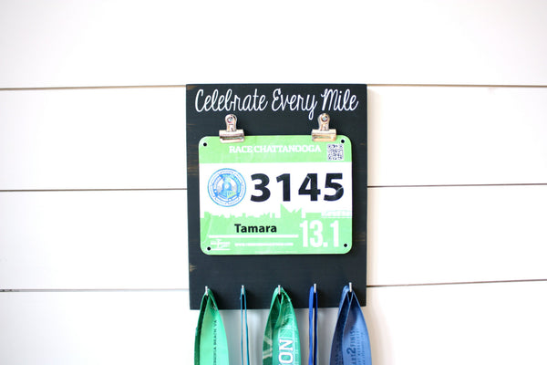 Running Race Bib & Medal Display - Celebrate Every Mile - York Sign Shop - 2
