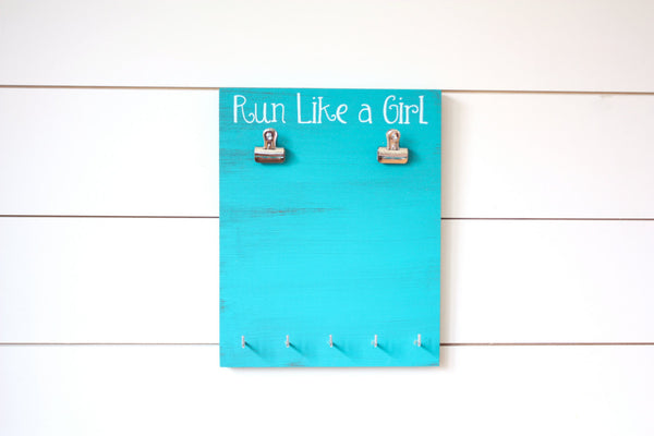 Running Race Bib & Medal Display - Run Like a Girl - York Sign Shop - 2