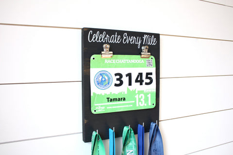 Running Race Bib & Medal Display - Celebrate Every Mile - York Sign Shop - 1